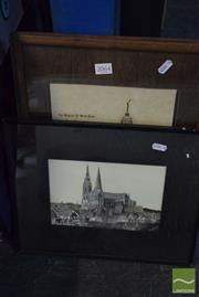 Sale 8530 - Lot 2064 - 2 Works: W.Richards Cathedral of Notre Dame, Chartres & Basilica Notre Dame de Brebieres, Albert, both signed