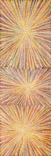 Sale 8558 - Lot 582 - Luck Morton Kngwarreye (c1952 - ) - Untitled 90 x 30.5cm (stretched & ready to hang)
