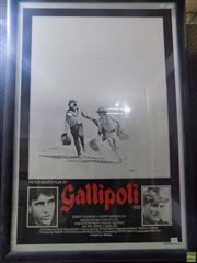 Sale 8561 - Lot 2036 - Movie Poster - Gallipoli, 1981 110 x 76 (frame size)
