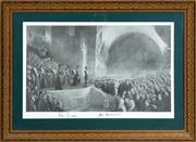 Sale 8984H - Lot 351 - Tom Roberts, the opening of Parliament. Black and White print. Signed by Peter Costello and John Howard. Frame size Height 91 width ...