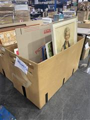 Sale 8981 - Lot 2060 - Box of Assorted Modern and Contemporary Paintings incl. Portraits, Watercolours and Prints