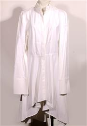 Sale 9029F - Lot 12 - AN ALEXANDER MCQUEEN PLEATED SHIRT DRESS: made in Italy, 100% cotton, size EUR 46.