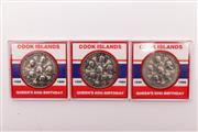 Sale 9018O - Lot 822 - Collection of three Cook Island coins, uncirculated in slab