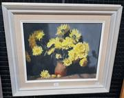 Sale 9019 - Lot 2026 - Heather Timbs Chrysanthemumsoil on board, 46 x 53cm, signed