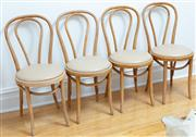 Sale 9070H - Lot 144 - Four Bentwood chairs with padded cafe au lait seats, Height of back 89cm