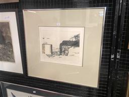 Sale 9176 - Lot 2034 - Artist Unknown Still Life with Cake,1977 embossed etching ed. 9/25 57 x 61cm (frame) signed -