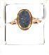 Sale 3682 - Lot 522 - A 9CT GOLD RING SET WITH AN OPAL DOUBLET.
