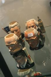 Sale 7875 - Lot 63 - Royal Doulton Toby Jugs John Doulton, Henry Doulton, The Graduate & a Pair of John Shorter Toby Jugs