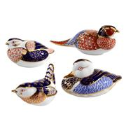 Sale 8000 - Lot 119 - A group of four Royal Crown Derby Imari pattern paperweights including a pheasant, duck, partridge and a wren.