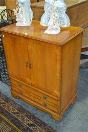 Sale 7981A - Lot 1080 - Yewwood Veneered Cabinet with 2 Doors above 2 Drawers