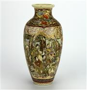 Sale 8139 - Lot 91 - Satsuma Panelled Vase