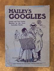 Sale 8261A - Lot 74 - Mailey's Googlies, County and Test Cricket Sketches by the Great Australian Bowler, A.A. Mailey, issued during the 1921 Tour of Engl..