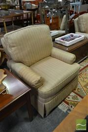Sale 8515 - Lot 1054 - Pair of Drexel Gold Upholstered Armchairs (062098, 062099)