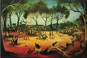 Sale 8607A - Lot 5029 - Kevin Charles (Pro) Hart (1928 - 2006) - Stephens Creek Picnic 62.5 x 90cm