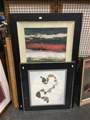 Sale 8707 - Lot 2057 - Set of 6 Framed Decorative Prints, framed various sizes, including Picasso and Leslie Wasserberger