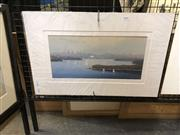 Sale 8903 - Lot 2040 - Scott Ireland Sydney Harbour Scene acrylic on canvas on board, 37 x 57.5cm (mounted/unframed), signed -