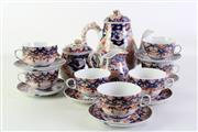 Sale 8935D - Lot 601 - Imari Part Tea Service incl teapot, cups & saucers, sugar bowl, and milk creamer
