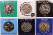 Sale 9018O - Lot 821 - Collection of six New Zealand coins, uncirculated