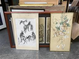 Sale 9094 - Lot 2055 - A Group of (7) Assorted Chinese Watercolours (framed/various sizes)
