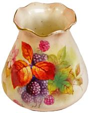 Sale 7974 - Lot 35 - Royal Worcester Hand Painted Vase by Kitty Blake