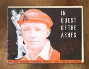 Sale 8261A - Lot 75 - In Quest of the Ashes, 1934, The Don Bradman Souvenir Booklet and Scoring Records, with the Compliments of Wrigley's covering the 19..