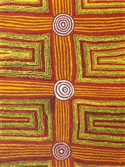 Sale 8409A - Lot 559 - Eileen Napaltjarri (1956 - ) - Women's Ceremony, 2008 128 x 96cm (stretched & ready to hang)