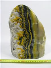 Sale 8331A - Lot 533 - Bumble Bee / Eclipse Jasper in free form, Java