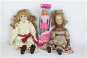 Sale 8461 - Lot 29 - Bisque Head Dolls with a Barbie