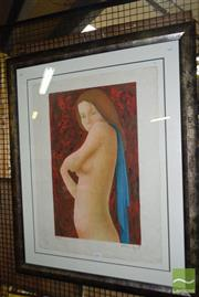 Sale 8509 - Lot 2095 - Contemporary French School (A Bommefont) Model, lithograph ed. 84/100, 104 x 84.5cm(frame size), signed lower right