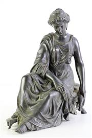 Sale 8972 - Lot 16 - Bronze figure of a lady, after Michel (H25cm)