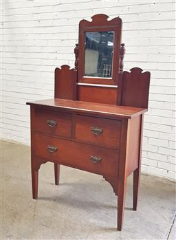 Sale 9151 - Lot 1237 - Mirrored back chest of 3 drawers (h:170 x w:98 x d:42cm)