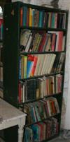 Sale 7670A - Lot 1180 - Pair of green six shelf bookcases