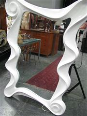 Sale 7972A - Lot 1079 - Organic Formed White Framed Mirror