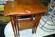 Sale 8115 - Lot 1265 - Nest of 3 Shield Top Tables