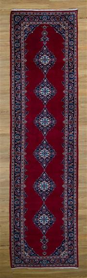 Sale 8566C - Lot 9 - Persian Kashan Runner 380cm x 104cm