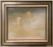 Sale 8961 - Lot 2072 - Dudley Anderson - Children at the Waters Edge, on board, signed