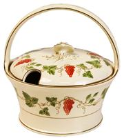 Sale 7974 - Lot 36 - Wedgwood Queen Ware Hand Painted Covered Basket