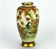 Sale 8139 - Lot 89 - Satsuma Autumn Bud Vase