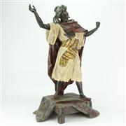 Sale 8441 - Lot 34 - Cold Painted Spelter Figure of a Somali Warrior by Arthur Waagen