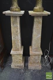 Sale 8262 - Lot 1012 - Pair of Marble Pedestals