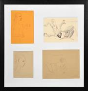 Sale 8403A - Lot 5082 - Constantine Popov (1965 - ) (4 works) - Drawings 53.5 x 53.5cm, overall