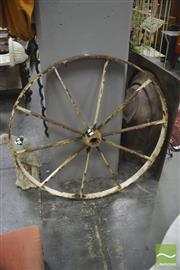 Sale 8406 - Lot 1146 - Cast Iron Wagon Wheel