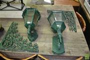 Sale 8412 - Lot 1090A - Pair of Green Lanterns with a Pair of Lattice