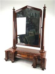 Sale 8545N - Lot 98 - Victorian Flamed Mahogany Toilet Mirror (H:94cm, W:70cm)