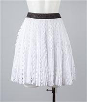 Sale 8685F - Lot 15 - A Willow cotton and polyester lasercut, pleated skirt, size AUS 6
