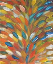 Sale 8821A - Lot 5053 - Gloria Petyarre (c1945 - ) - Bush Medicine Leaves 96 x 80cm (stretched and ready to hang)