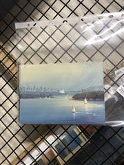 Sale 8903 - Lot 2049 - Scott Ireland (3 works) Sydney Harbour Scenes; Three Sisters, Blue Mountains oils on canvas on board, each 12.5 x 17.5cm (unframed..