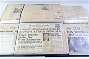 Sale 8997 - Lot 48 - Three Albums Of WW2 War Time News Paper Articles