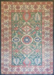 Sale 9059 - Lot 1092 - Afghan Hand Knotted Woollen Kazak (345 x 246cm)