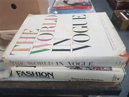 Sale 9152 - Lot 2358 - 2 Vols: M&A Batterberry Fashion: The Mirror of History 1982 Columbus Books & The World in Vogue Secker & Warburg